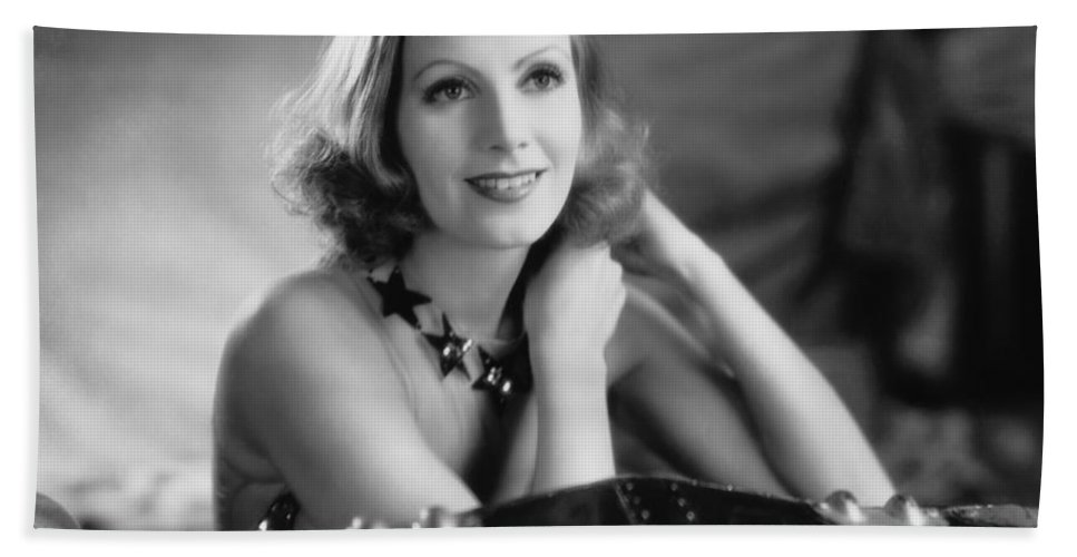 1920's Hand Towel featuring the photograph Actress Greta Garbo by Underwood Archives