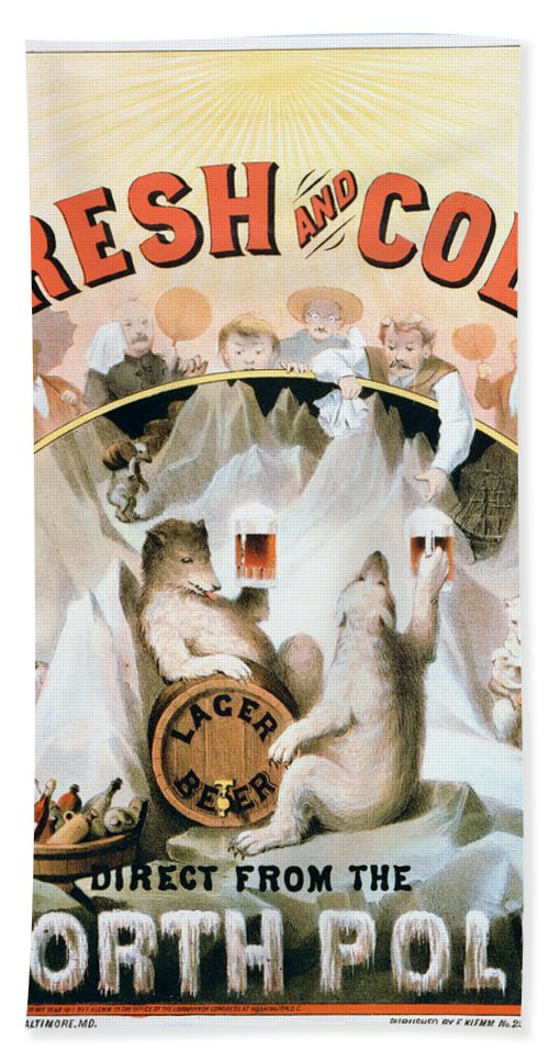 1877 Bath Sheet featuring the painting Ad Beer, C1877 by Granger