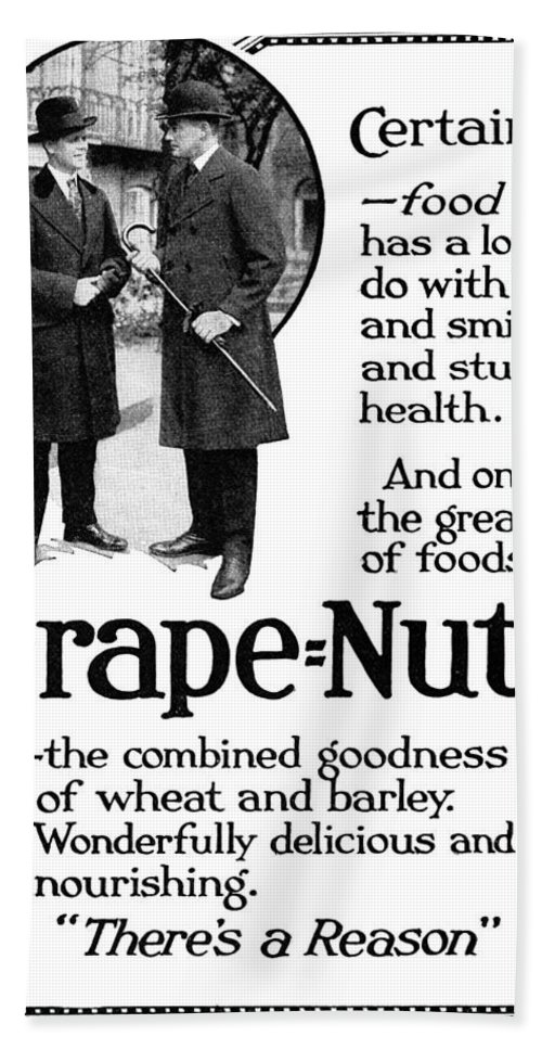 1919 Bath Sheet featuring the painting Ad Grape Nuts, 1919 by Granger
