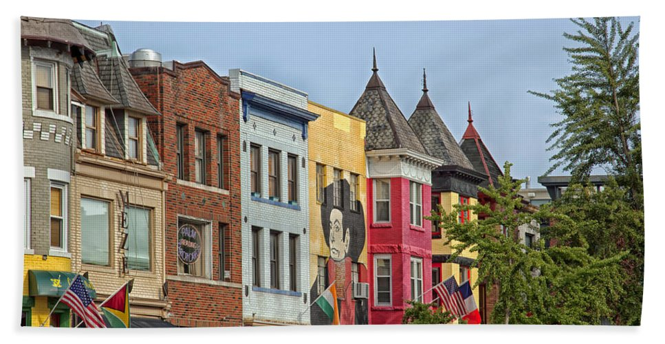 Washington D.c. Bath Sheet featuring the photograph Adams Morgan Neighborhood In Washington D.c. by Mountain Dreams