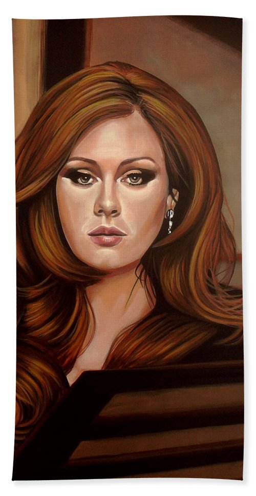 Adele Hand Towel featuring the painting Adele by Paul Meijering