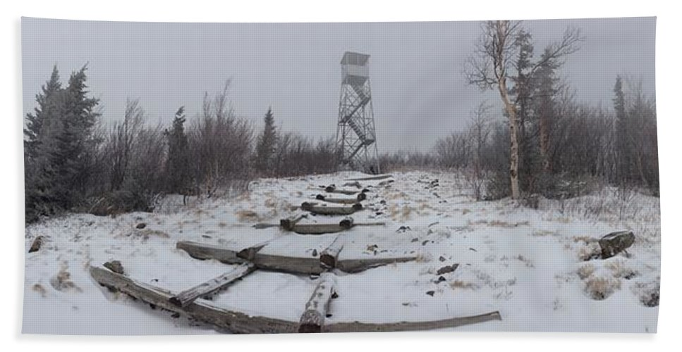 Series Hand Towel featuring the photograph Adirondack Fire Tower 2 by Michael French