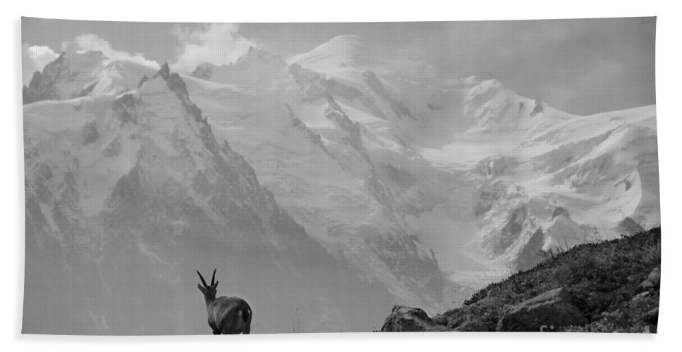 Mont Blanc Hand Towel featuring the photograph Admiring The View by Camilla Brattemark