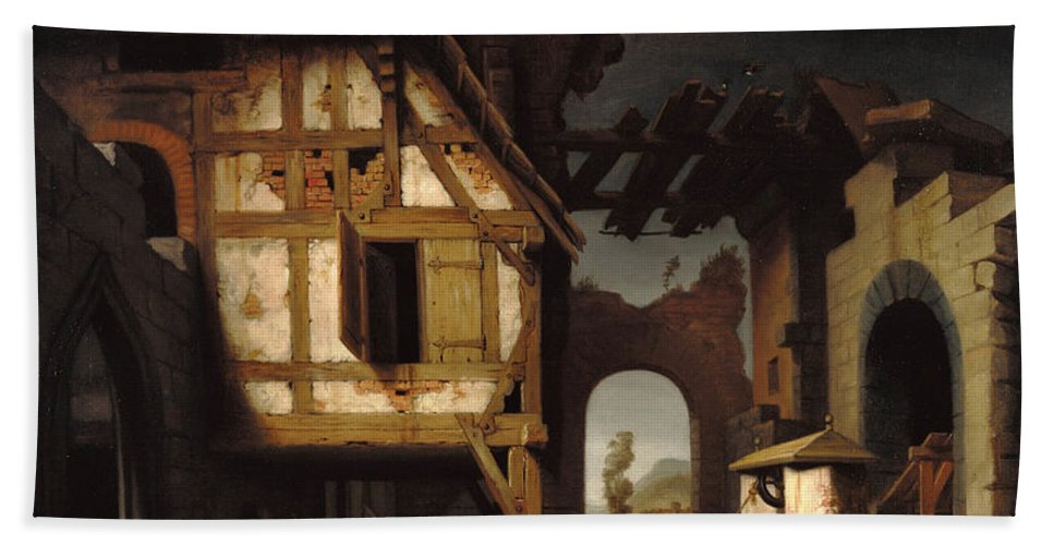 Nicolaes Maes Bath Sheet featuring the painting Adoration Of The Shepherds by Nicolaes Maes
