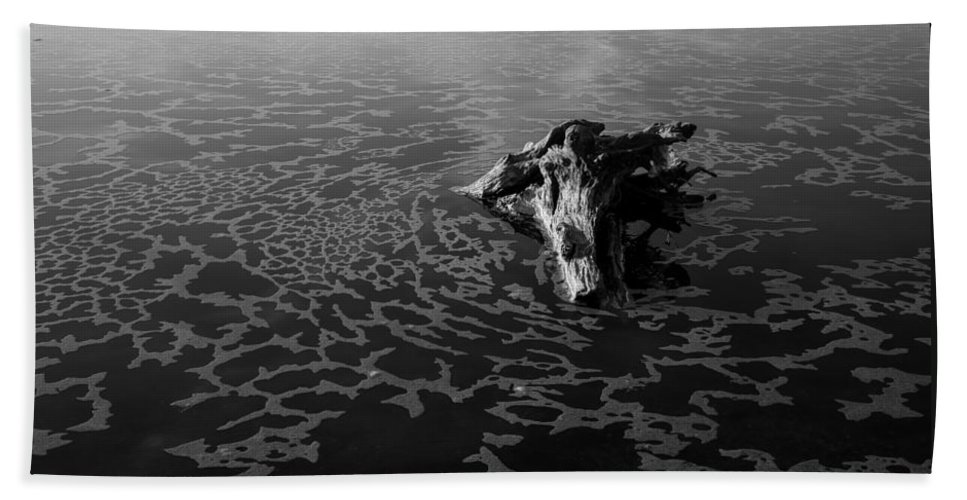 Driftwood Bath Sheet featuring the photograph Adrift by Alex Lapidus