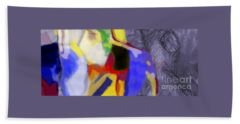 Torah Bath Sheet featuring the digital art Benefit Of Concealment 1ab by David Baruch Wolk