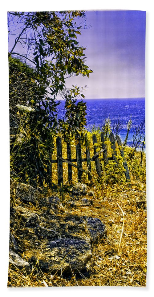 Aegean Sea Hand Towel featuring the photograph Aegean View by Madeline Ellis