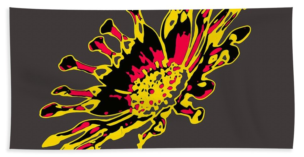 Pop Bath Sheet featuring the digital art African Daisy by Dragica Micki Fortuna