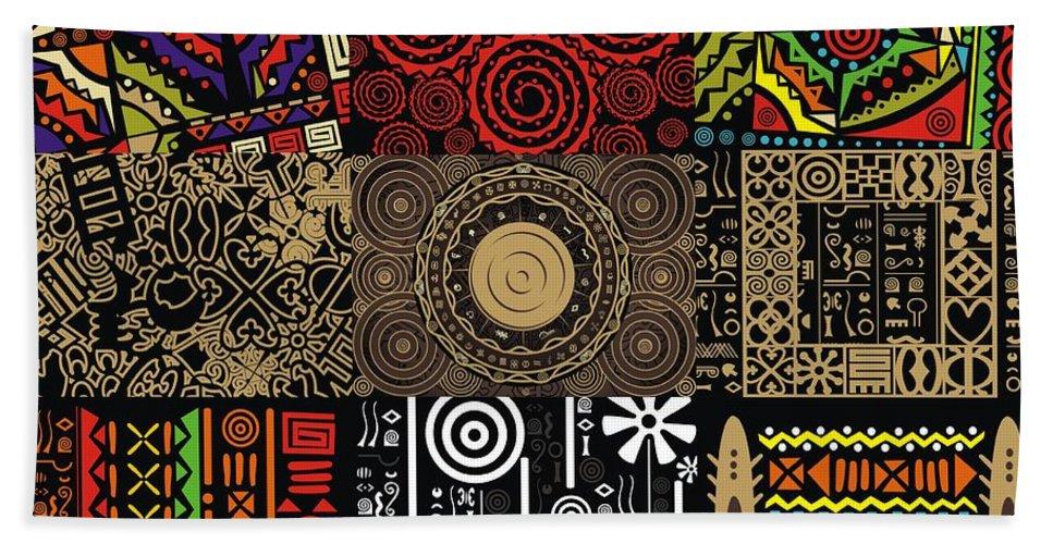 Adinke Hand Towel featuring the digital art Afroecletic II by Adinke Inc