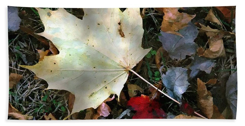 Autumn Bath Sheet featuring the painting After The Frost by RC DeWinter