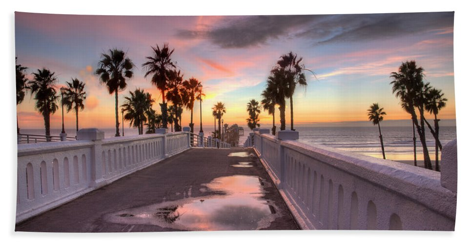 Pier Bath Sheet featuring the photograph After The Rain by Peter Tellone
