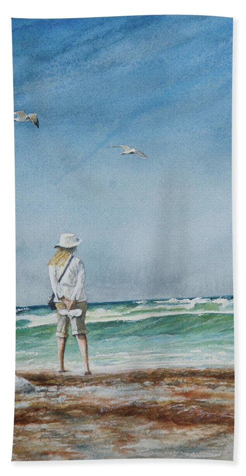Landscape Bath Towel featuring the painting After The Storm by Arthur Fix