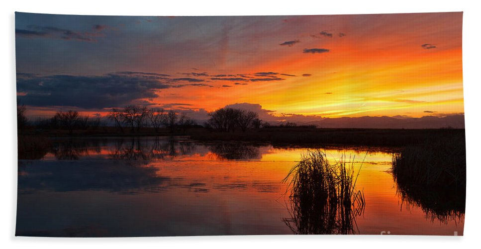 Sunsets Hand Towel featuring the photograph Afterglow by Jim Garrison