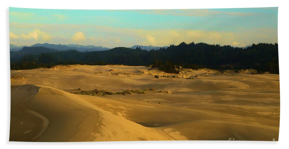 Oregon Dunes Hand Towel featuring the photograph Afternoon At Oregon Dunes by Adam Jewell