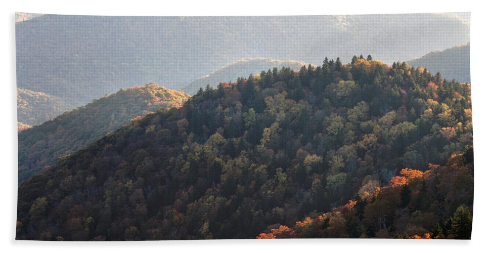 Blue Ridge Bath Sheet featuring the photograph Afternoon On The Mountain by Rob Travis