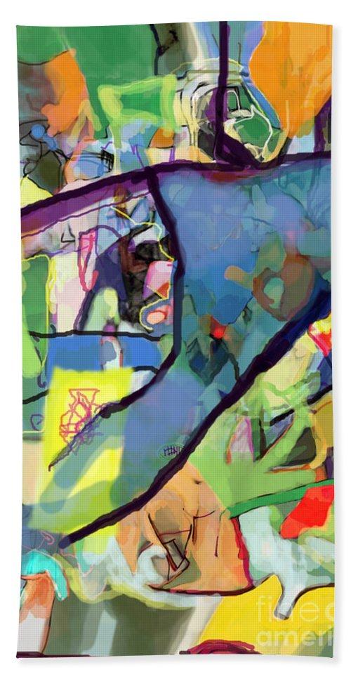 Torah Bath Sheet featuring the digital art Self-renewal 15r by David Baruch Wolk