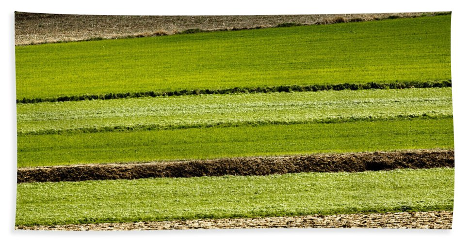 Layer Hand Towel featuring the photograph Agriculture Layers Fields And Meadows by Brch Photography