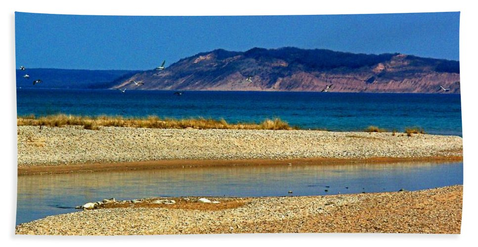 Michigan Hand Towel featuring the photograph Ahhh Michigan by Desiree Paquette