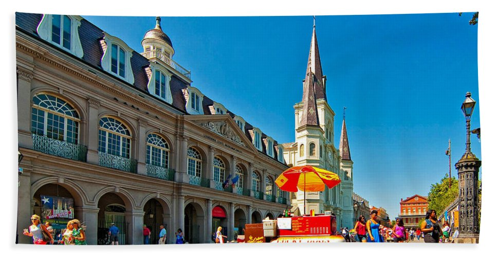 French Quarter Hand Towel featuring the photograph Ahh...new Orleans by Steve Harrington