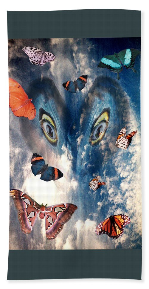 Air Hand Towel featuring the digital art Air by Lisa Yount