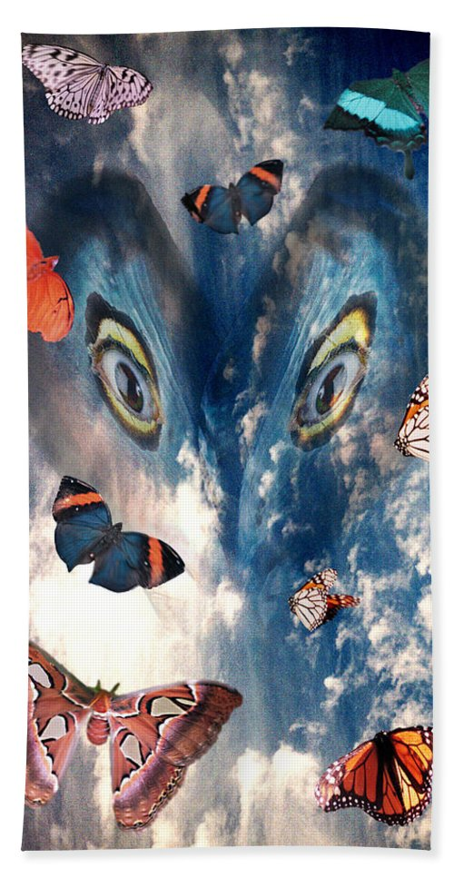 Air Bath Towel featuring the digital art Air by Lisa Yount