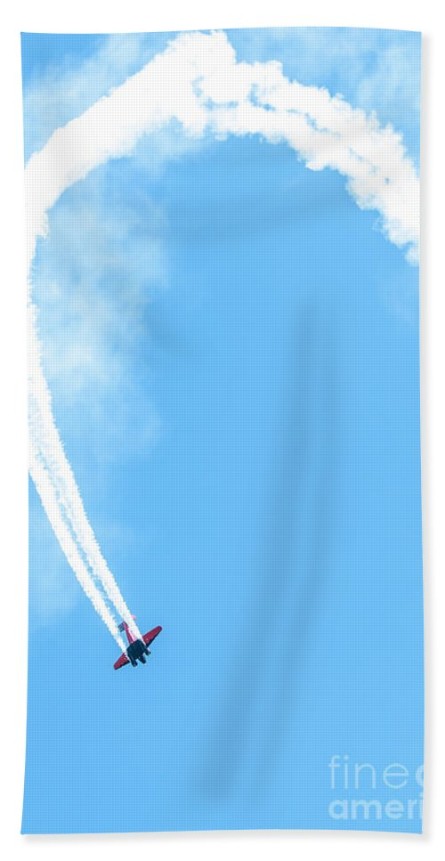War Hand Towel featuring the photograph Airplane In Action by Amel Dizdarevic
