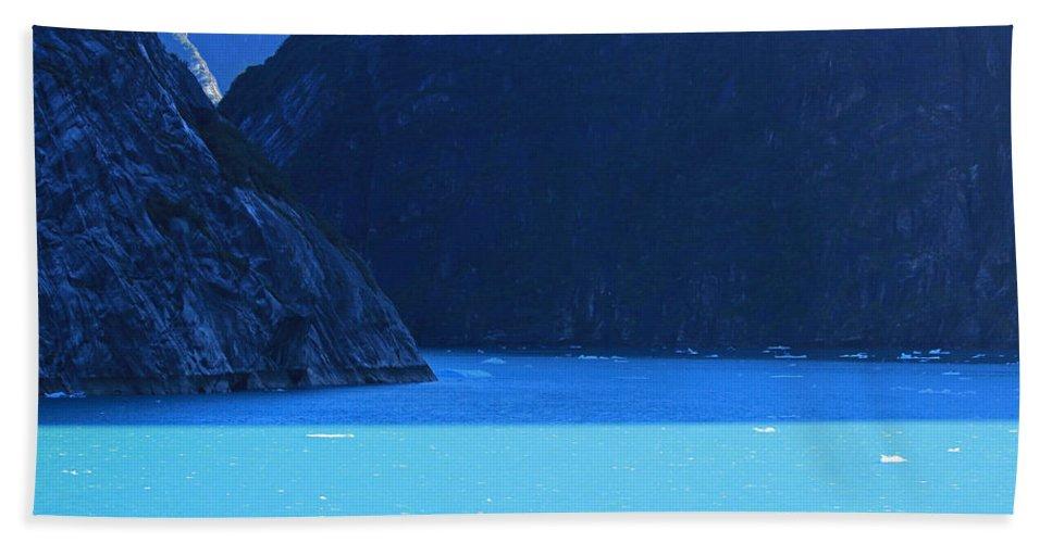 Alaska Hand Towel featuring the photograph Alaska Rhapsody In Blue by Kris Hiemstra
