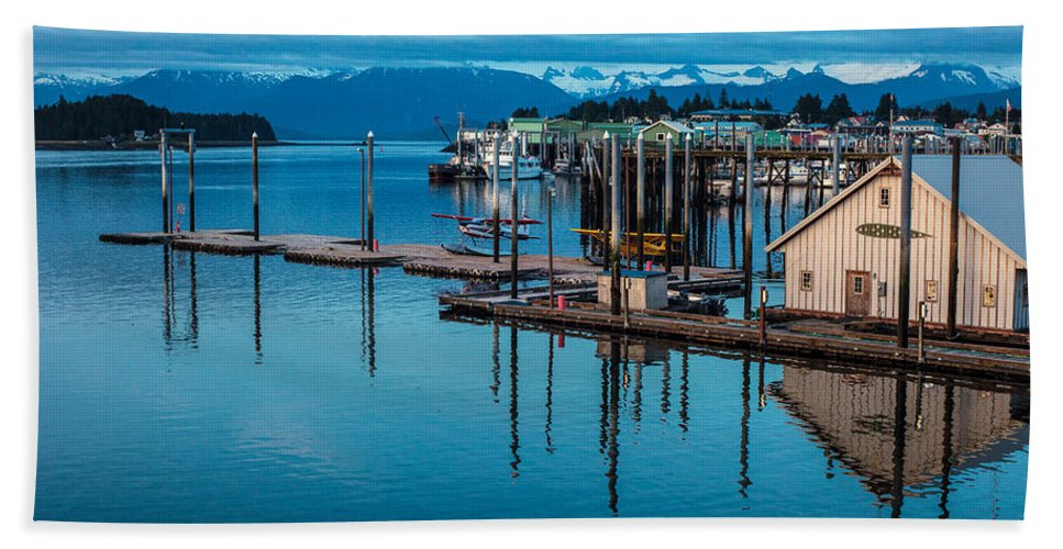 Frederick Sound Bath Sheet featuring the photograph Alaska Seaplanes by Mike Reid