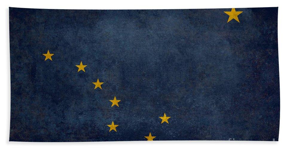 Usa Bath Sheet featuring the digital art Alaska State Flag by Bruce Stanfield
