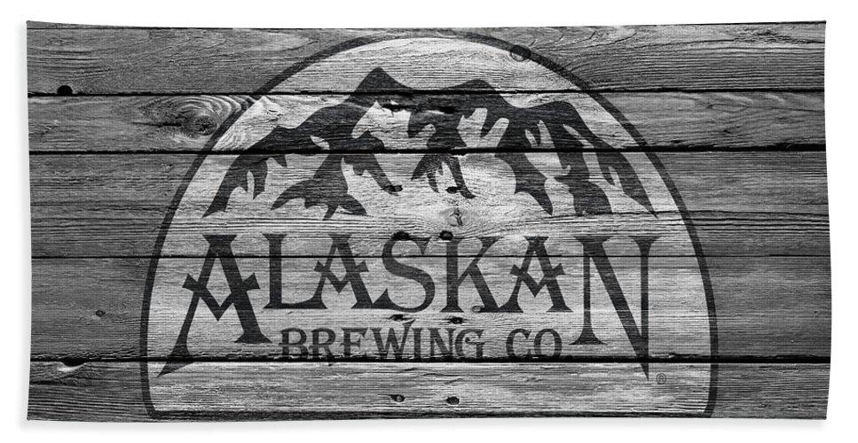Alaskan Brewing Hand Towel featuring the photograph Alaskan Brewing by Joe Hamilton