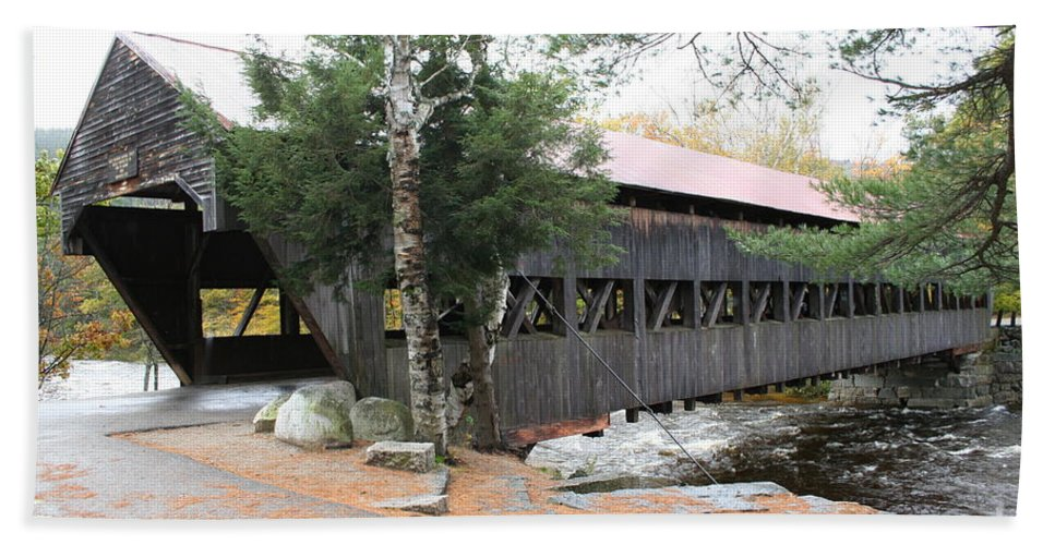 Covered Bridge Hand Towel featuring the photograph Albany Covered Bridge by Christiane Schulze Art And Photography