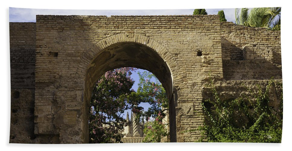 Alcazar Bath Sheet featuring the photograph Alcazar - Sevilla - Spain by Madeline Ellis