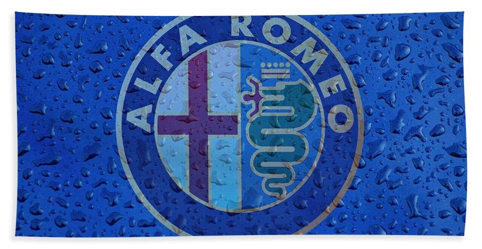 Alfa Romeo Hand Towel featuring the photograph Alfa Romeo Rainy Window Visual Art by Movie Poster Prints