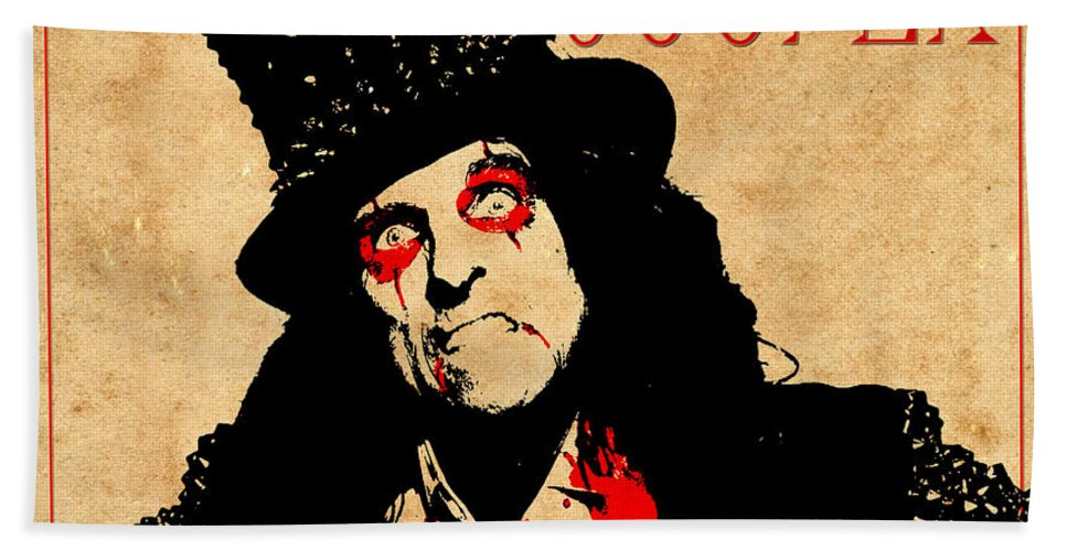 Alice Cooper Bath Towel featuring the photograph Alice Cooper 1 by Andrew Fare