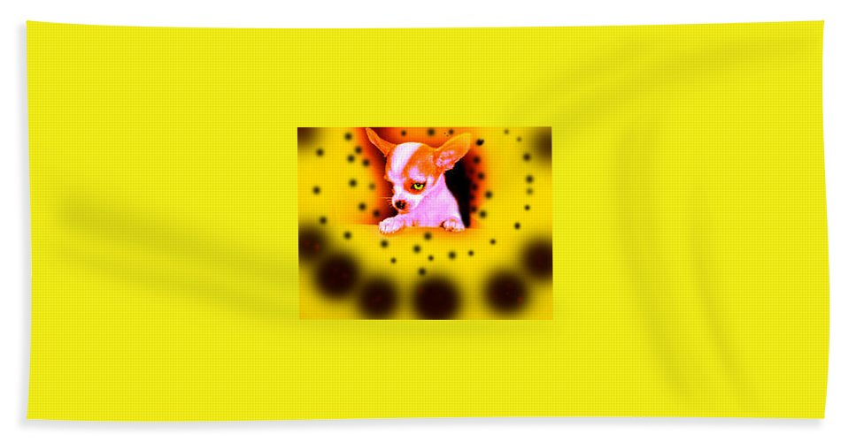 Chihuahua Hand Towel featuring the photograph Alien Chihuahua by Leah Delano