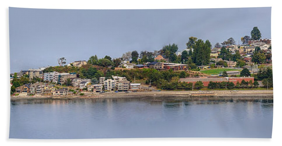 Seattle Hand Towel featuring the photograph Alki Point by Mike Penney