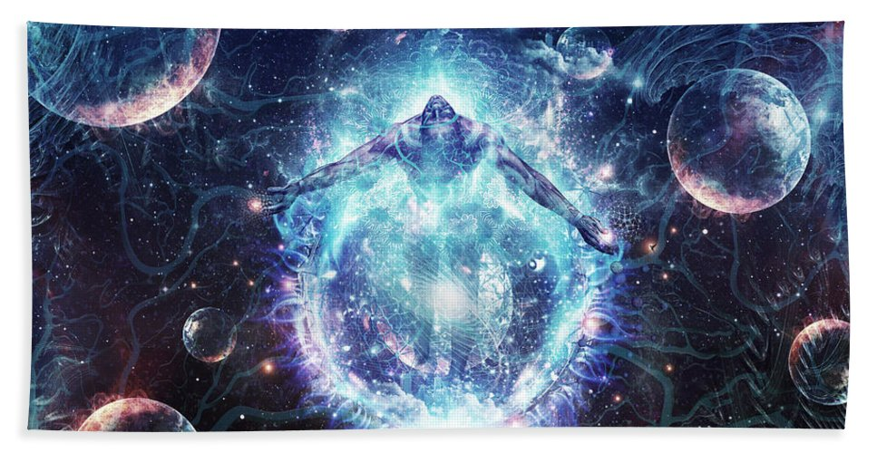 Love Hand Towel featuring the digital art All From Nothing We Became Something by Cameron Gray