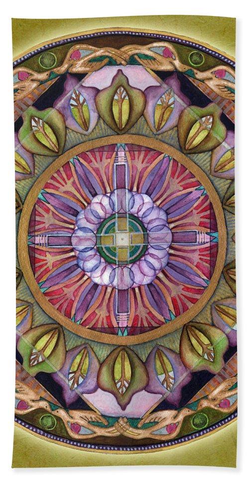Mandala Art Bath Sheet featuring the painting All Is Well Mandala by Jo Thomas Blaine