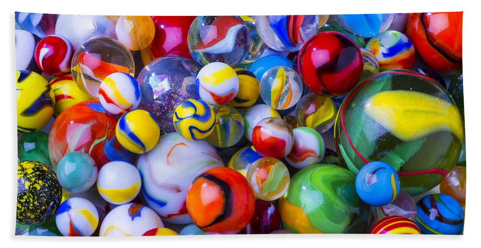 Marbles Bath Sheet featuring the photograph All My Marbles by Garry Gay