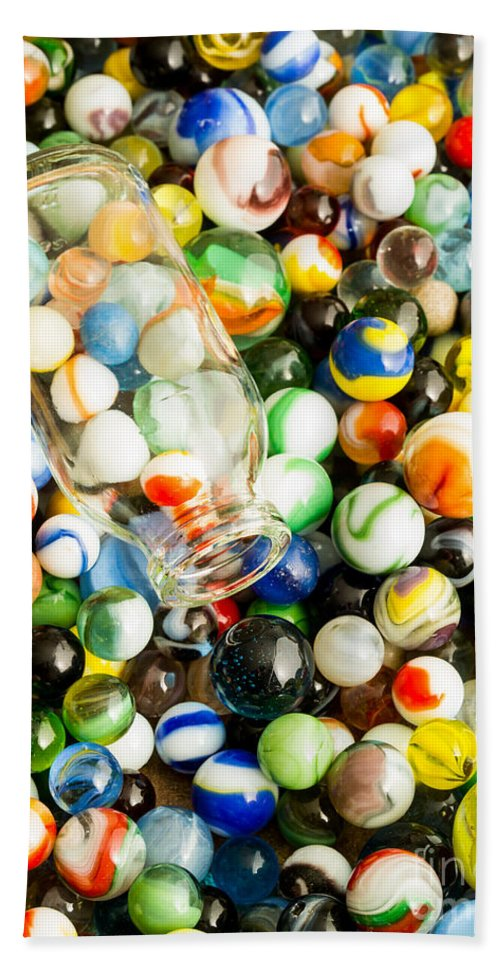Toys Bath Sheet featuring the photograph All The Marbles by Edward Fielding