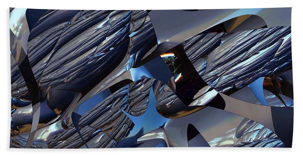 Abstract Bath Sheet featuring the photograph All The Peices by Jeff Swan
