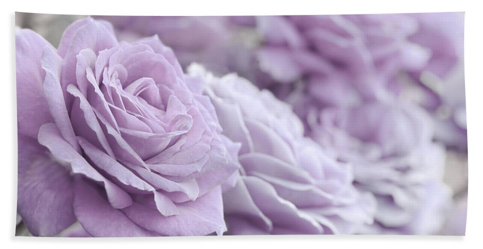Rose Hand Towel featuring the photograph All The Soft Violet Roses by Jennie Marie Schell