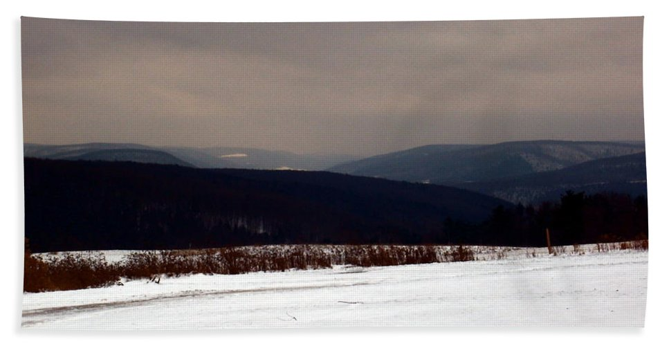 New York Bath Sheet featuring the photograph Allegany Highlands by Christian Mattison