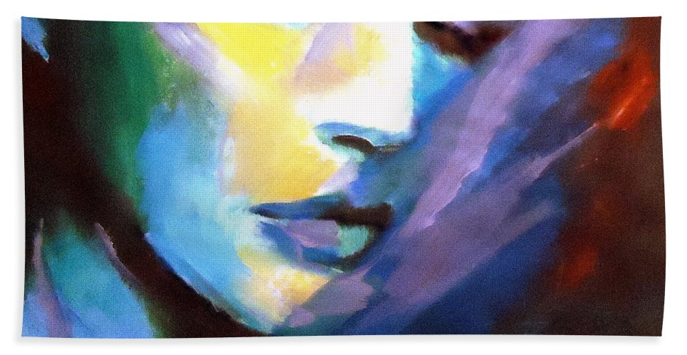 Affordable Original Paintings Bath Sheet featuring the painting Allness Of The Universe by Helena Wierzbicki
