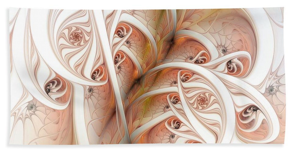 Abstract Hand Towel featuring the digital art Allure by Casey Kotas