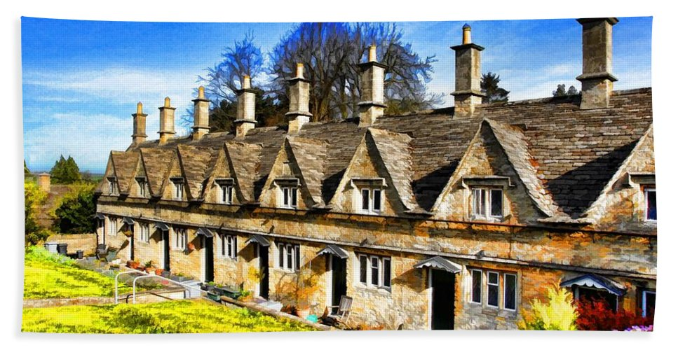 Alms House Bath Sheet featuring the photograph Almshouses by Ron Harpham