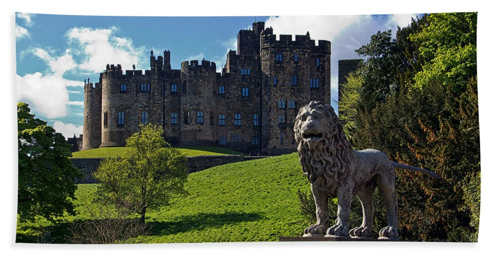 Percy Lion Bath Sheet featuring the photograph Alnwick Lion by David Pringle