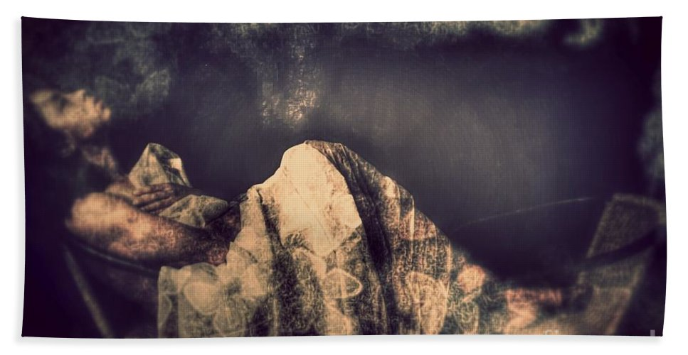 Bath Sheet featuring the photograph Alone by Jessica Shelton