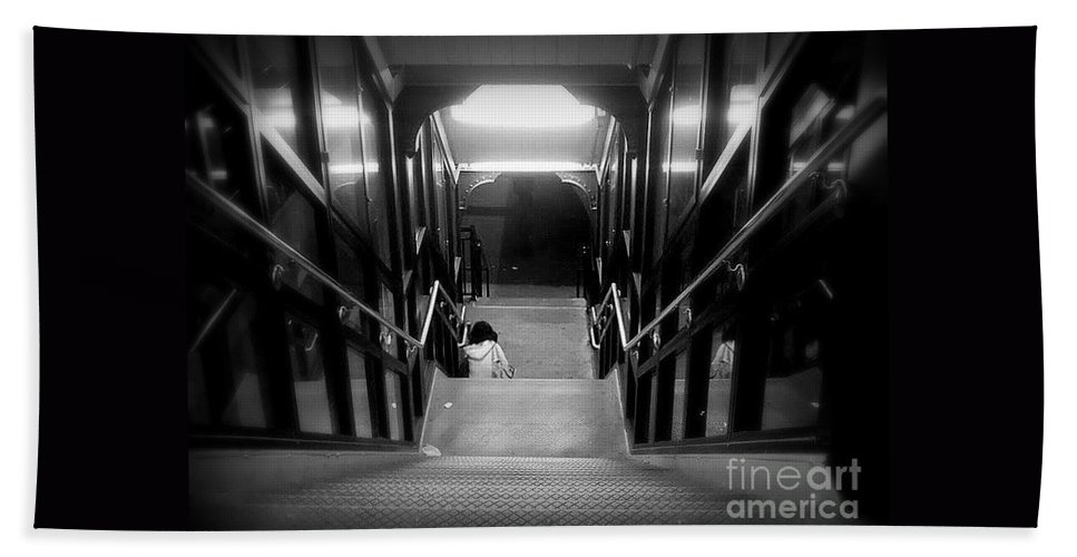 Alone Hand Towel featuring the photograph Alone by Miriam Danar
