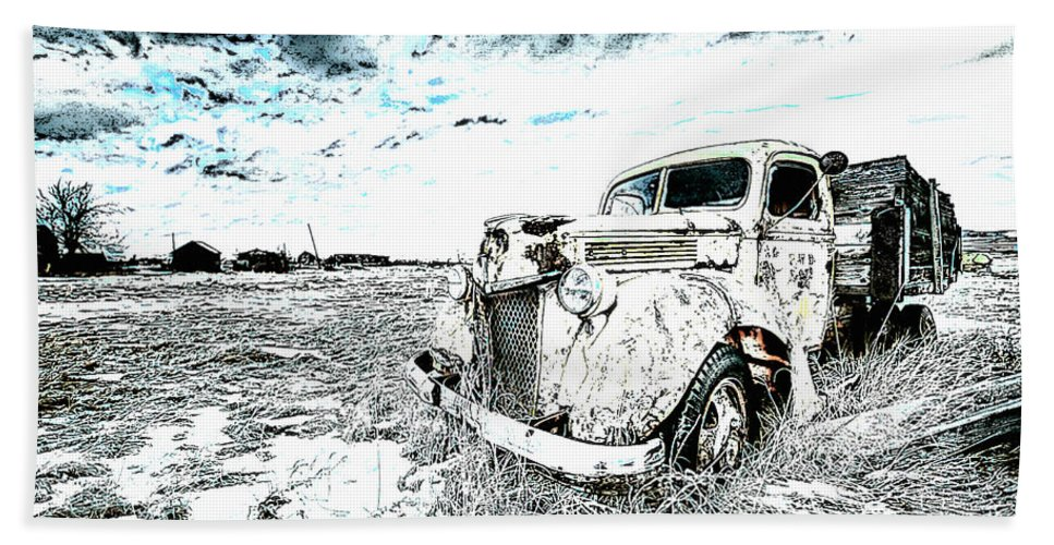Car Hand Towel featuring the photograph Alone by Lyriel Lyra